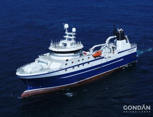 * Freezing Stern Trawler «Magne Arvesen»  built in Astilleros Gondan SA